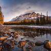 Castle Mountain as the sun broke through at dawn<br /> Landscape CPL