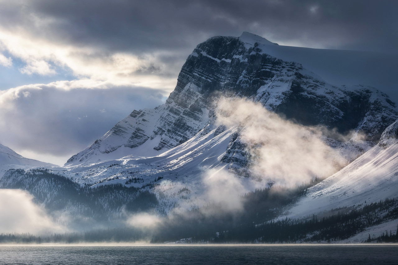 Clearing conditions at Bow Lake