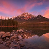 Panorama of Pyramid Lake<br /> 3 stop soft edged GND