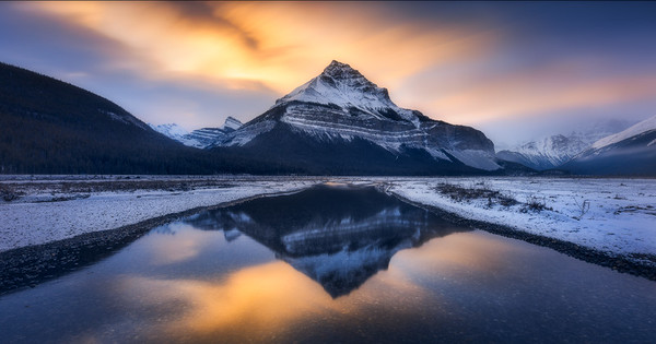 Early morning light over Tangle Peak 10 stop ND filter, 4 stop soft GND, Landscape CPL