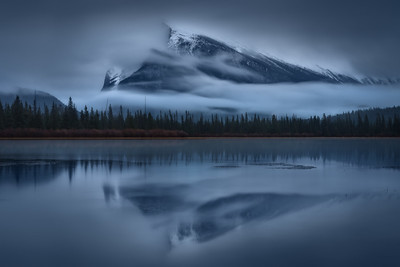 Mount Rundle from Vermillion Lakes 6 stop ND filter