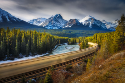 Morant's Curve , Bow Valley Parkway 10 stop ND filter, Landscape CPL