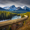 Morant's Curve , Bow Valley Parkway<br /> 10 stop ND filter, Landscape CPL