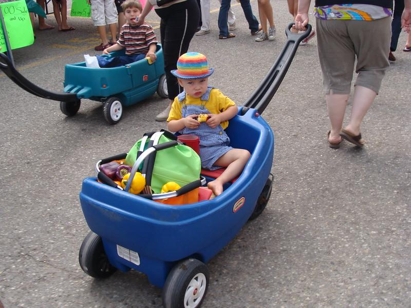 Boy in a Wagon
