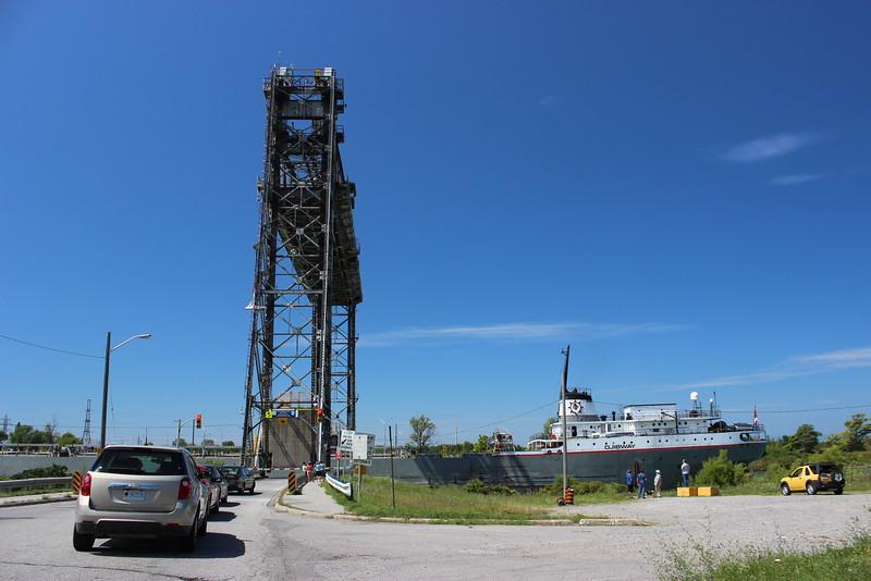 Ojeway Ship Passes through Bridge No. 5