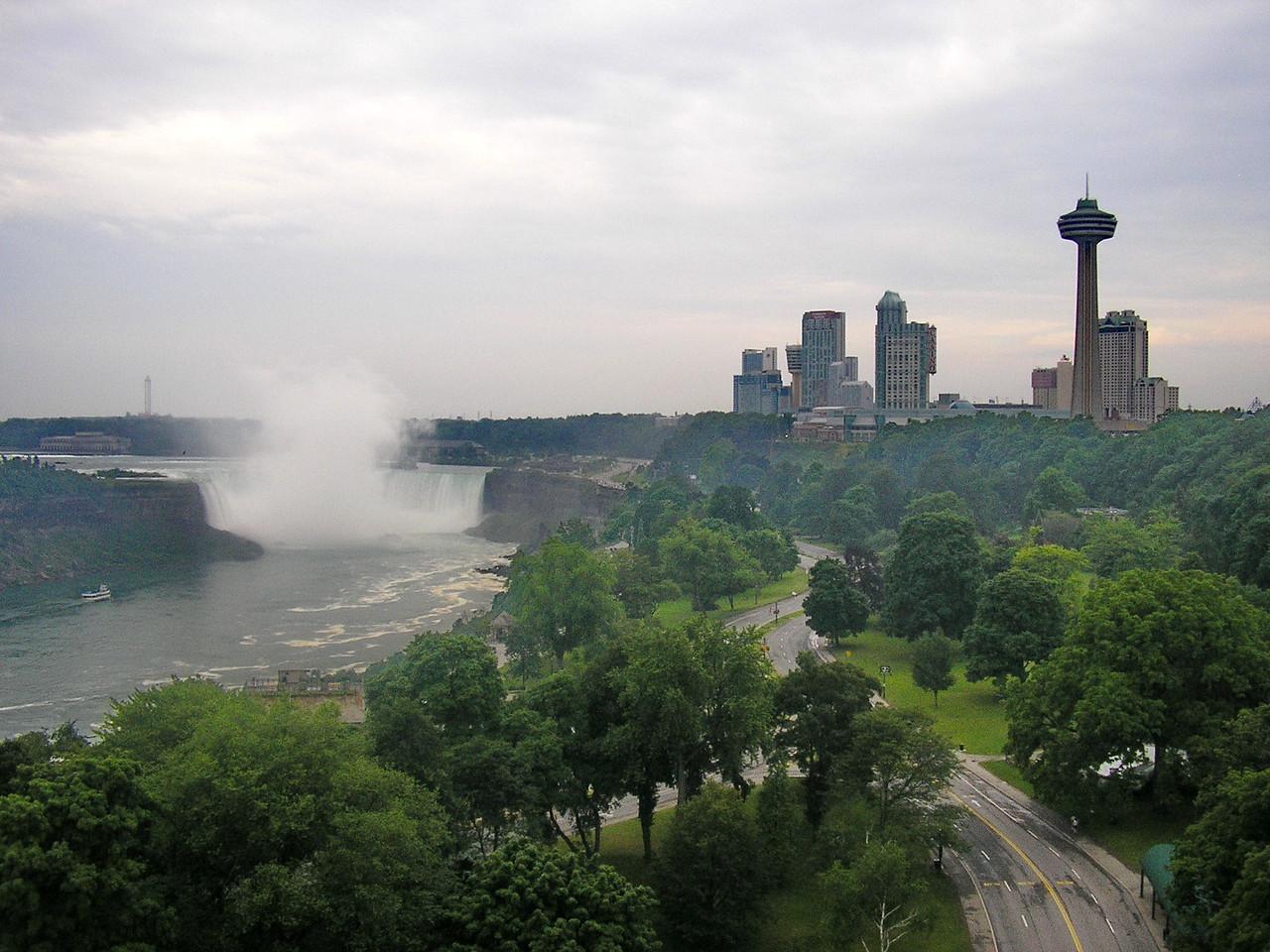 Horseshoe Falls and the City