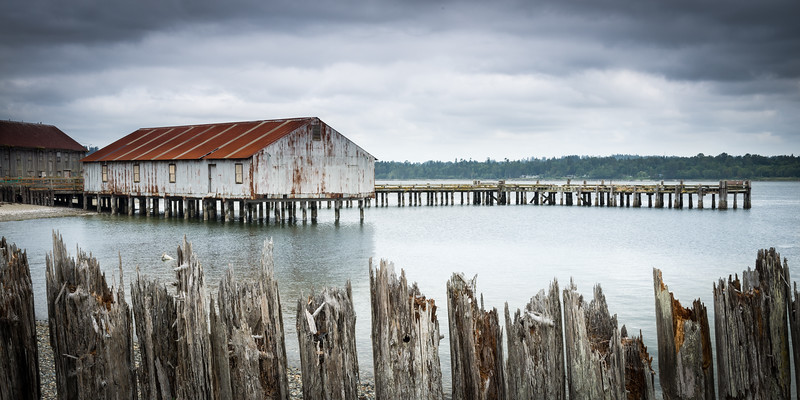 WA 011<br /> <br /> A former salmon cannery on Semiahmoo Spit in Washington state.