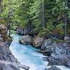 CA 007<br /> <br /> Ice and snow melt give the Green River it's deep turquoise color as it flows through Nairn Falls Provincial Park in British Columbia.