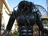 Metal monster available for purchase. Put him on your front porch to greet your guests-- ?