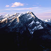 View on Cascade Mountain from the top of Sulphur Mountain, Banff National Park, Alberta, Canada.