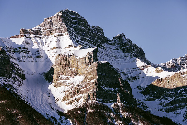 Mountains in Canadian Rockies in Banff National Park, Alberta, Canada.