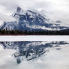 Mount Rundle reflection in Vermillion Lakes, Alberta