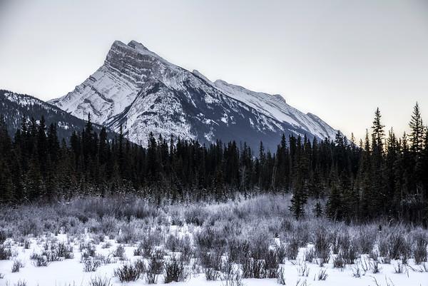 Mount Rundle in Banff, Alberta