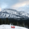 View on Mount Rundle from Tunnel Mountain Road in Banff, Alberta.