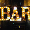 Bar vintage sign in the city of Calgary, Alberta, Canada.