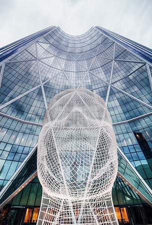 The iconic Wonderland Sculpture in Downtown Calgary, Alberta