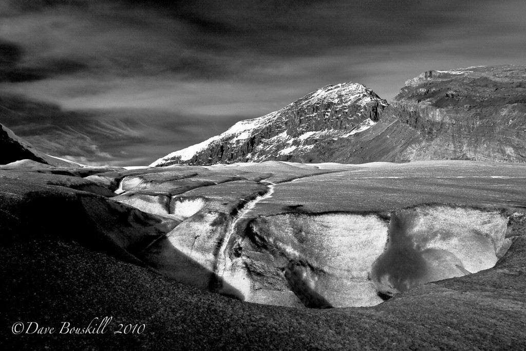 Black and White Athabasca Glacier Banff Alberta Canada