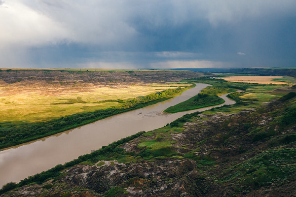 View on the Red Deer River from Orkney Viewpoint, Alberta