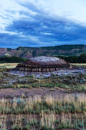 Badlands on the Dinosaur Trail near Drumheller, Alberta