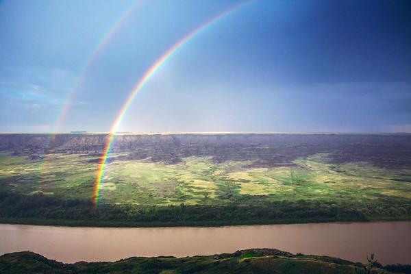 Rainbow over the Horsethief Canyon