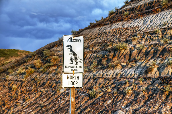 The Dinosaur Trail close to Drumheller in Alberta, Canada