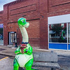 Dinosaur public instalation in Downtown Drumheller, Alberta