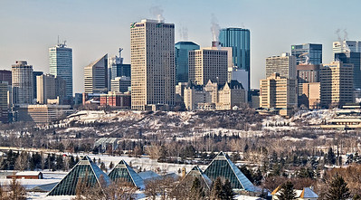 Muttart and Edmonton Skyline