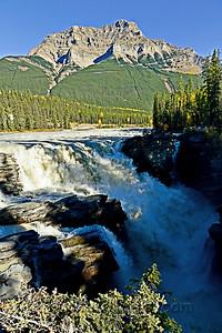 Athabasca Falls and Kerkeslin Mountain