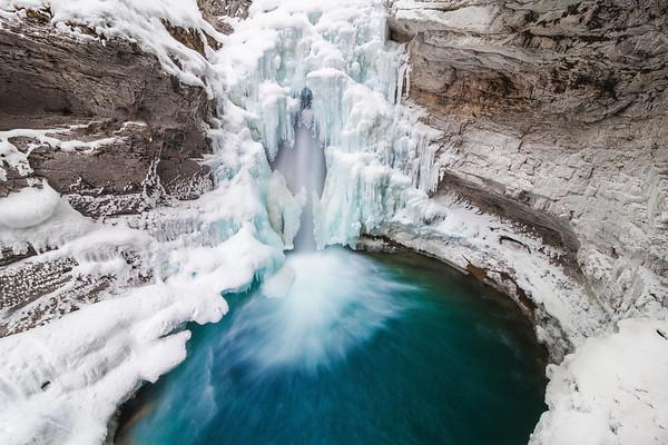 Lower Falls at Johnston Canyon, Banff National Park, Alberta