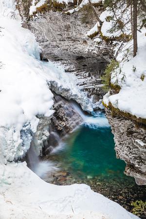 Falls at Johnston Canyon, Banff National Park, Alberta