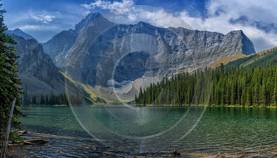 Rawson Lake Kananaskis Canmore Alberta Canada Panoramic Landscape Fine Art Photos Beach Shore - 017170 - 29-08-2015 - 13681x7782 Pixel