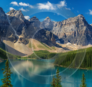 Moraine Lake Louise Alberta Canada Panoramic Landscape Photography Fine Arts Flower Prints For Sale - 017369 - 18-08-2015 - 19441x18443 Pixel