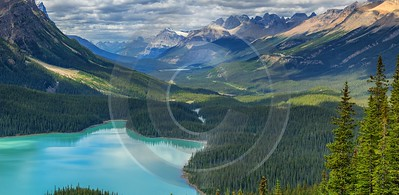 Peyto Lake Louise Alberta Canada Panoramic Landscape Photography Fine Art Pictures Barn - 016900 - 18-08-2015 - 16036x7836 Pixel