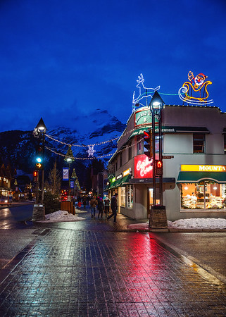 Christmas decorations in the Town of Banff