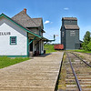 Bellis Canadian National Railway Station - Bellis Home Grain Company Elevator