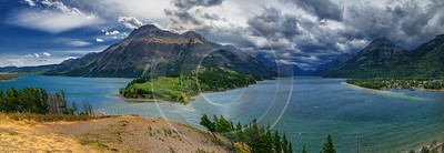 Waterton Lake Alberta Canada Panoramic Landscape Photography Scenic Spring - 017480 - 02-09-2015 - 20178x6952 Pixel