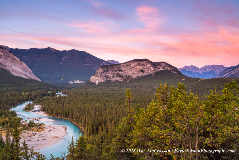 Bow River & Banff Springs Hotel
