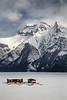Banff, Minnewanka - Docks frozen in the lake