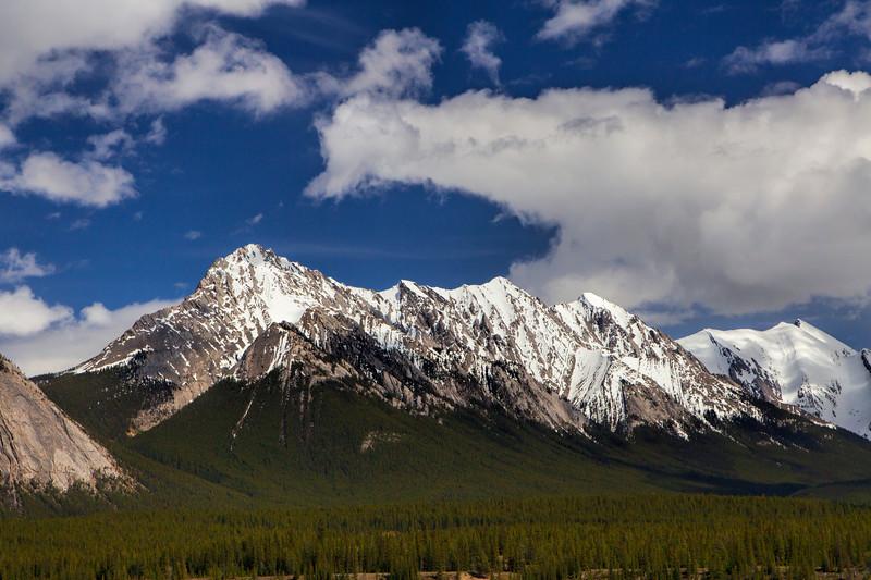 A scene along Hwy 16 in Jasper National Park - Alberta, Canada
