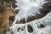 Banff, Johnston Canyon - Frozen upper falls on a winter day
