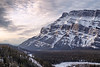 Banff, Hoodoos - First light on the side of Mt. Rundle