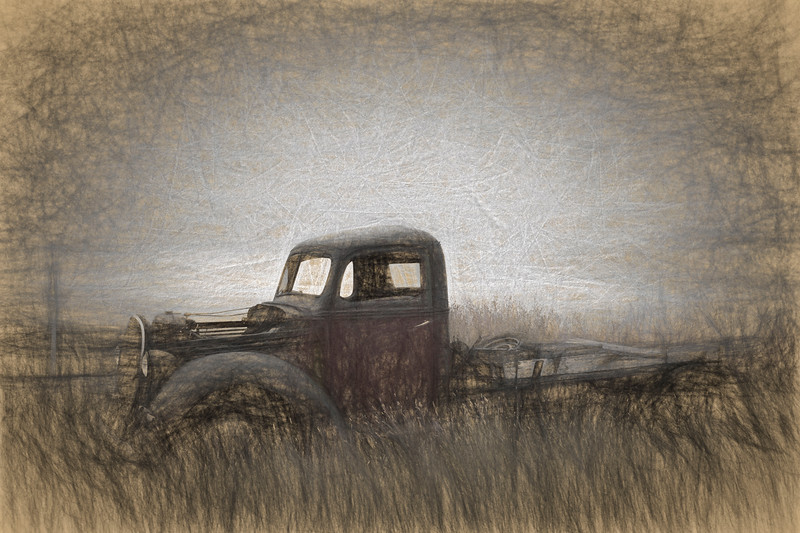 Abandoned Truck at the roadside, Near Lethbridge, Alberta