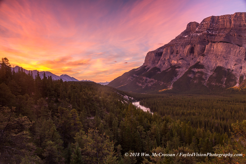 Sunrise Over Bow River Valley