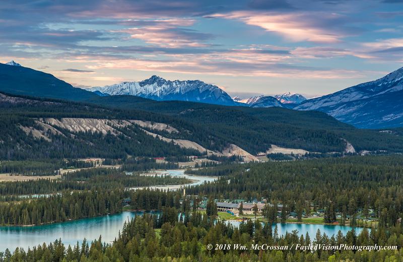 Athabasca River & Jasper Park Lodge