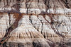 Drumheller, Midland Provincial Park - Patterns and textures in badlands