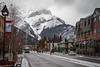 Banff, Town - Banff Avenue on a late winter day