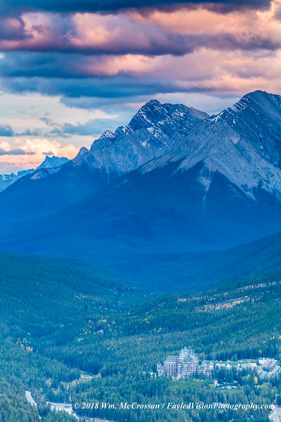 Mt Rundle & Banff Springs Hotel