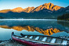 Canoes on Pyramid Lake