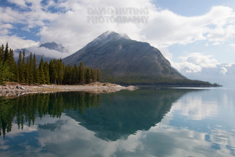 Lake Minnewanka Shoreline Reflection