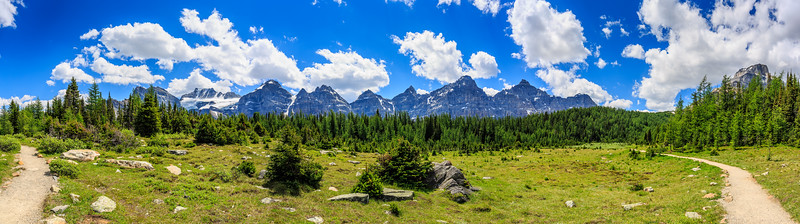 Wenkchemna Peaks From Larch Valley